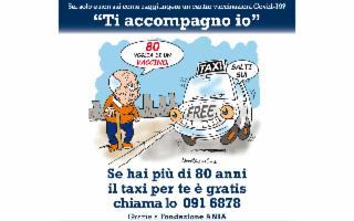 ''Ti accompagno io''. A Palermo taxi gratis per gli over 80 che devono raggiungere gli hub vaccinali