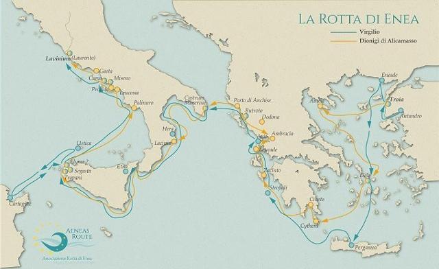 La mappa della Rotta di Enea