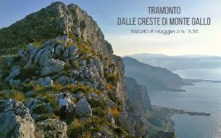 Tramonto dalle creste del Monte Gallo