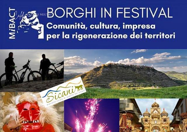 Il Sicani Creative Festival ha vinto il bando ''Borghi in Festival''