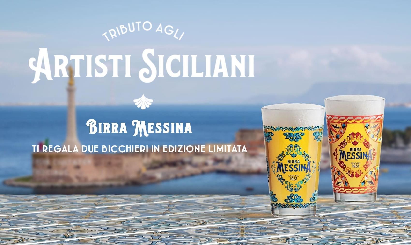 In due bicchieri il tributo di Birra Messina alle meraviglie della nostra Sicilia