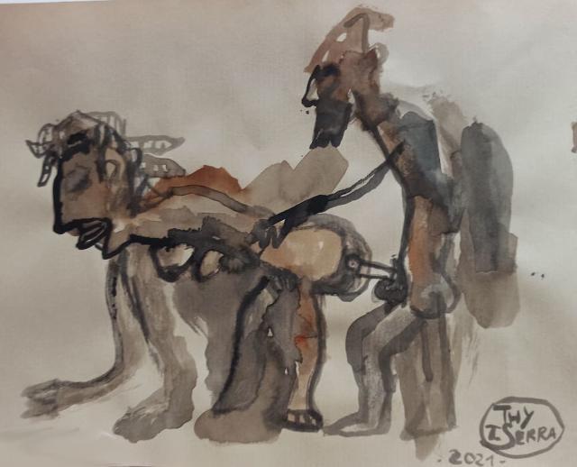 -eros-nero-opere-africane-su-carta-una-mostra-di-tommaso-serra-alla-galleria-dell-eros-piero-montana