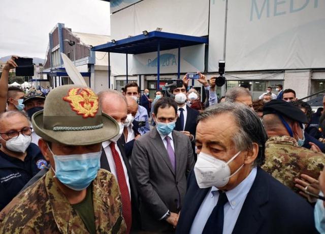 Il generale Francesco Paolo Figliuolo è stato in visita a Palermo