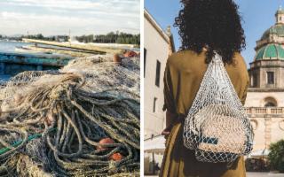 Così le vecchie reti da pesca diventano zaini ecologici...